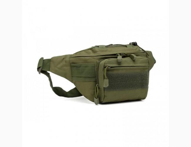 Поясная сумка зеленая