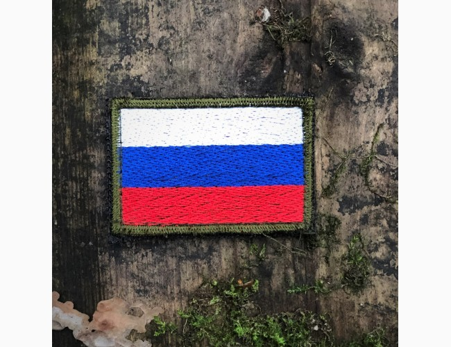 Патч «Россия» олива