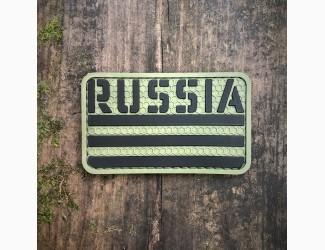 Патч «Russia» Olive, ПВХ